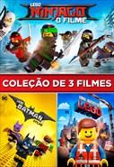 Coleção de 3 Filmes - LEGO Ninjago - O Filme - LEGO Batman - O Filme e Uma Aventura LEGO